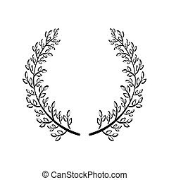Wreath icon. Rustic design. vector graphic