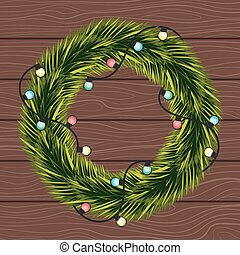 Wreath of Christmas tree branches