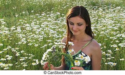 Wreath of daisies