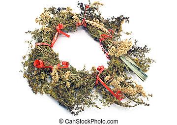 Wreath of dry herbs