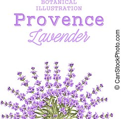 Wreath of lavender flowers.