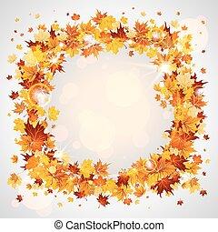 Wreath of maple leaves