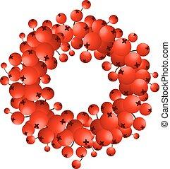 Wreath of red berries