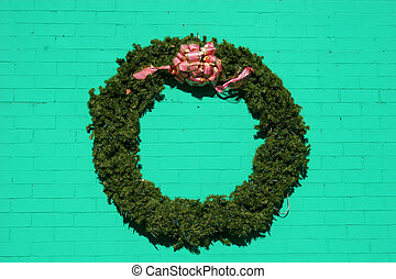 Wreath on Green