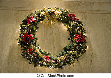 Wreath on Marble