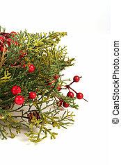 Wreath - Christmas wreath on a white background