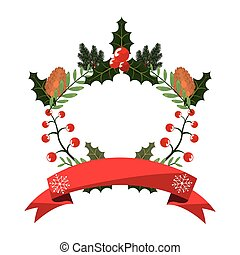 wreath pinecone holly berry christmas decoration