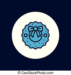 wreath vector icon sign symbol