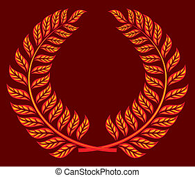 wreath vector (laurel wreath)