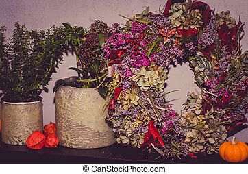 wreaths from dried flowers