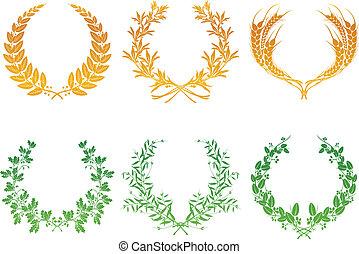 Wreaths, set