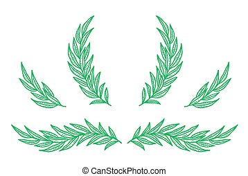 wreats, ensemble, feuilles, eucalyptus, branches