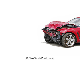 auto accident truck hit right front