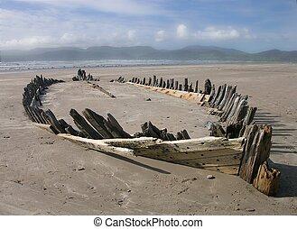 Wreck on beach