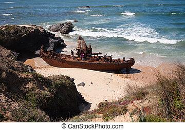 Wreck on the beach
