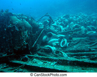 Wreck ships with cargo of toilets