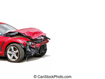 wreck - auto accident truck hit right front...