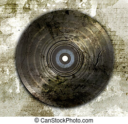 wrecked and old vinyl record