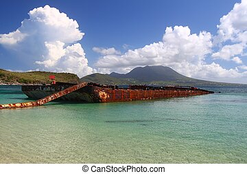 Wrecked Barge in Majors Bay