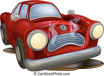 Wrecked cartoon car - A wrecked cartoon car needing fixing...