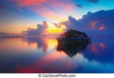 Wrecked Ship Sunrise