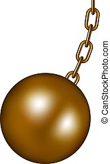 Wrecking ball in brown design
