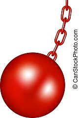 Wrecking ball in red design