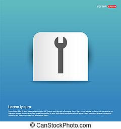 Wrench Icon - Blue Sticker button