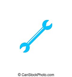 Wrench icon flat.