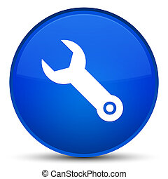 Wrench icon special blue round button