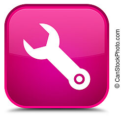 Wrench icon special pink square button