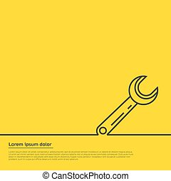 wrench infographic template. For web, illustration template ...