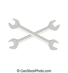 Wrench isolated on white