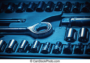 Wrench Set in Blue