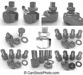 Wrench to tighten the screws set