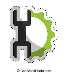 wrench tool isolated icon