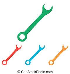 wrenches, attraversato, segno