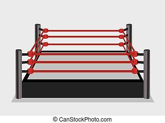 Wresting Ring Vector Illustration - Vector illustration of...