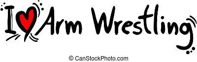 wrestling, amor, braço