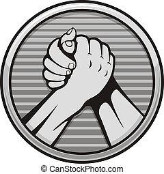 wrestling, braço, ícone