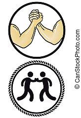 wrestling, braccio