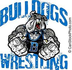 wrestling, bulldog