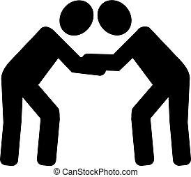 Wrestling pictogram