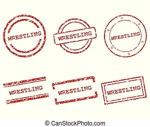 Wrestling stamps