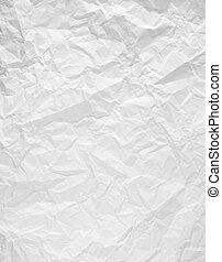 wrinkled blank white paper