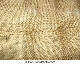 Wrinkled burlap - Burlap texture, wrinkled