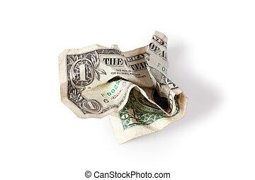 wrinkled dollar