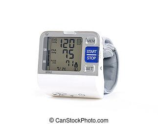 wrist blood pressure monitor on a white background