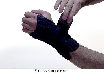 wrist brace - Human hand with a wrist brace