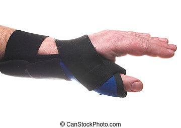 Wrist Brace - A stiff fabric brace for broken or sprained...